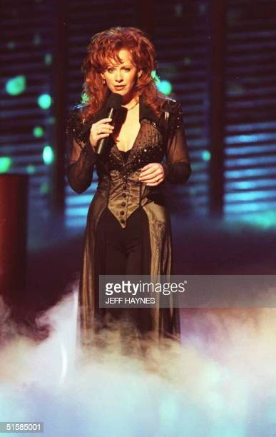 Country music singer Reba McEntire performs 24 April during the 31st Annual Academy of Country Music Awards held at Universal City California...