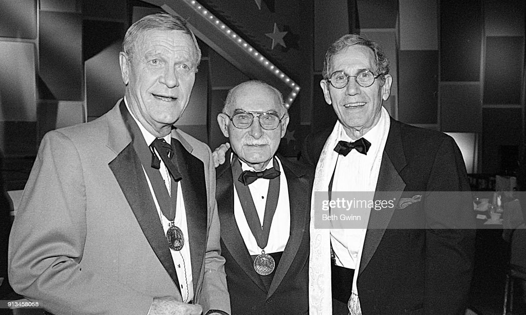 Country Music Singer Songwriter Eddy Arnold, Grand Pa Jones, and Chet Atkins on February 18, 1994 in Nashville, Tennessee.