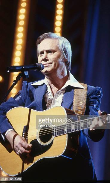 Country Music Singer Songwriter George Jones performs at CMA Awards on October 10 1988 in Nashville Tennessee