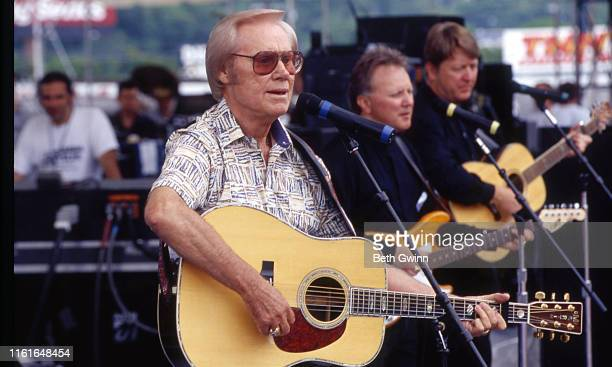 Country Music Singer Songwriter George Jones performs at Fanfair in 1999 in Nashville Tennessee