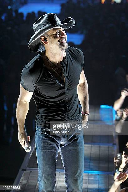 Country music singer Tim McGraw performs in concert at The Frank Erwin Center on April 9 2011 in Austin Texas