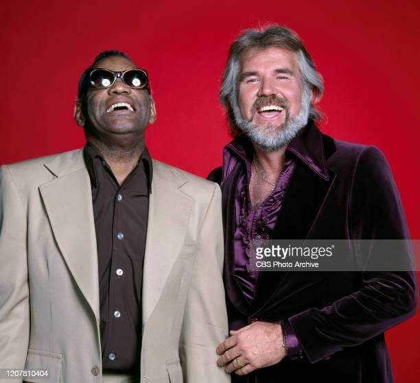 Country music singers from left Ray Charles and Kenny Rogers January 1 1979