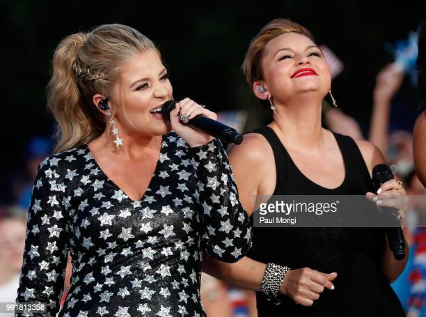 Country music star and AMERICAN IDOL alum Lauren Alaina performs at the 2018 A Capitol Fourth at the US Capitol West Lawn on July 4 2018 in...
