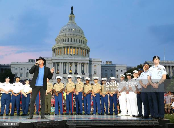 Country music star and Grammynominated member of the Grand Ole Opry Trace Adkins performs at A Capitol Fourth at US Capitol West Lawn on July 4 2017...