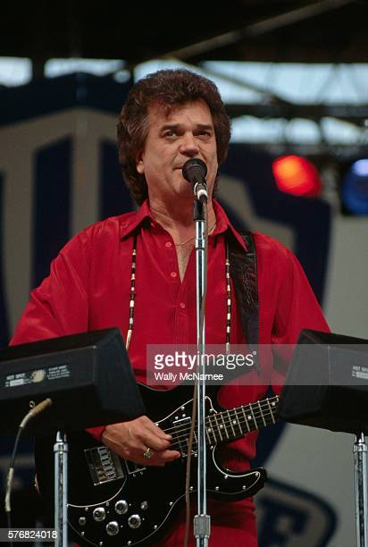 Country music star Conway Twitty sings at a concert in Richmond.
