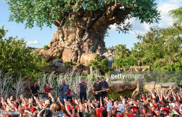 Country music star Darius Rucker sings 'Candy Cane Christmas' during a taping of 'Disney Parks Magical Christmas Celebration' November 4 at Disney's...