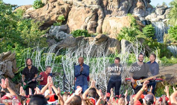 Country music star Darius Rucker sings 'Candy Cane Christmas' during a taping November 4 of 'Disney Parks Magical Christmas Celebration' at Disney's...