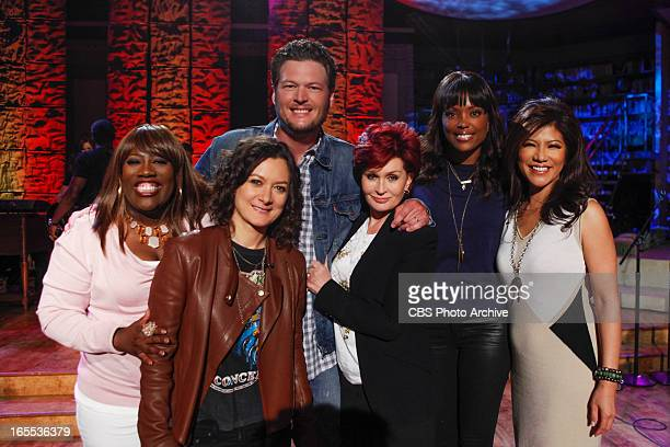 Country music superstar Blake Shelton performs live on THE TALK and previews cohosting this weekend's 48th Annual Academy of Country Music Awards...