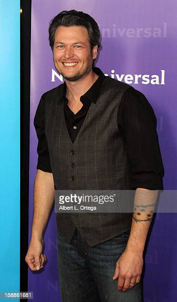 Country musician Blake Shelton participates in the NBC Universal Winter Tour AllStar Party held at The Athenaeum on January 06 2012in Pasadena...