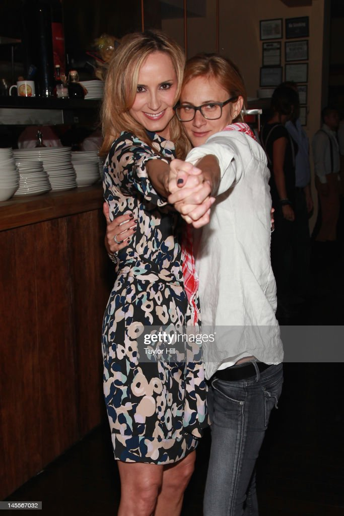 Country musician Chely Wright and wife Lauren Blitzer attend the 'Chely Wright: Wish Me Away' New York After Party at Zio Restaurant on June 1, 2012 in New York City.