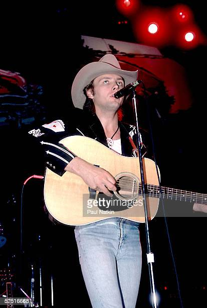 Country musician Dwight Yoakum performs Chicago Illinois October 5 1993