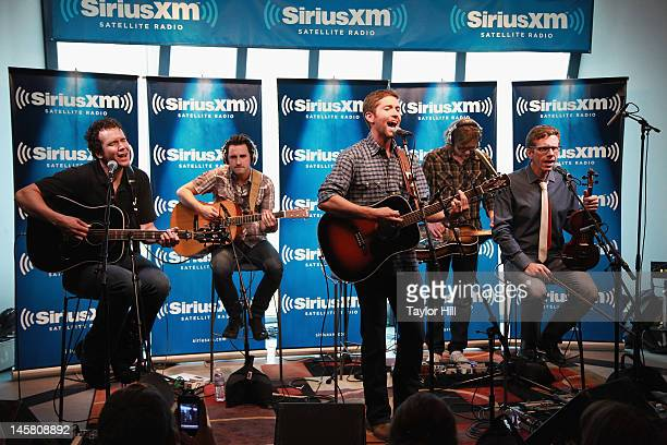 Country musician Josh Turner performs on SiriusXM's 'The Highway Super Fan Concert Series' at SiriusXM's Music City Theatre on June 6 2012 in...