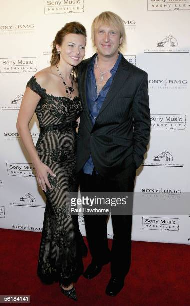 Country musician Keech Rainwater of the band 'Lonestar' and his wife Elissa attend the Sony BMG 2005 Country Music Awards after party at Gotham Hall...