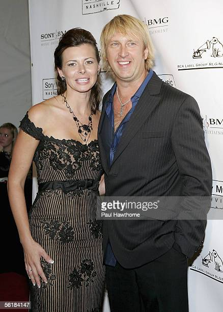 Country musician Keech Rainwater of the band Lonestar and his wife Elissa attend the Sony BMG 2005 Country Music Awards after party at Gotham Hall...