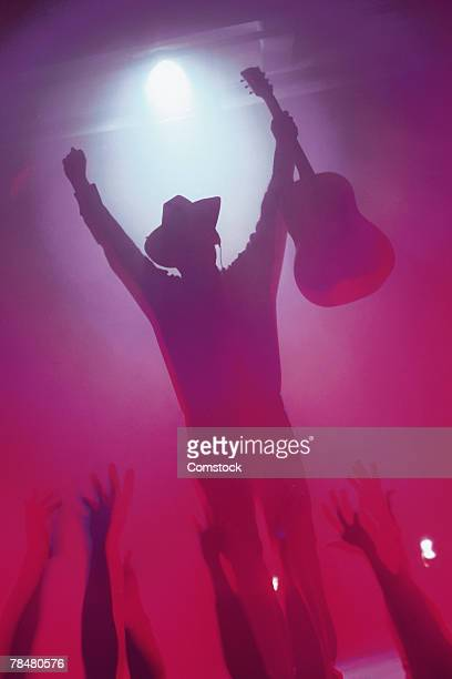 Country musician on stage at concert