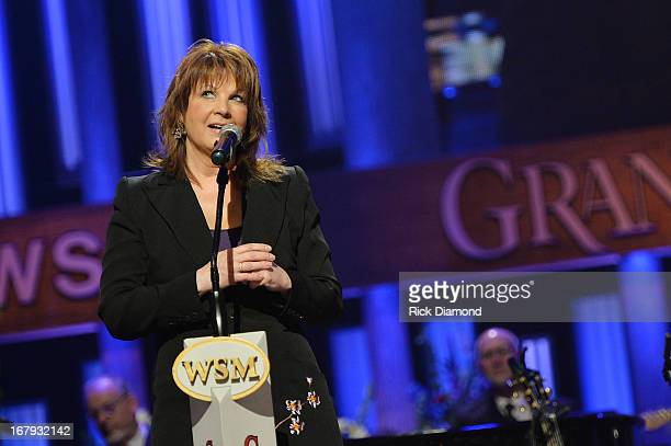 Country musician Patty Loveless performs at the funeral service for George Jones at The Grand Ole Opry on May 2 2013 in Nashville Tennessee Jones...