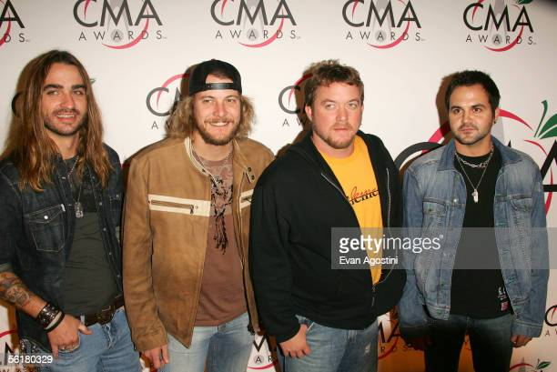 Country musicians Canadian Ragweed attend the 39th Annual Country Music Association Awards at Madison Square Garden November 15 2005 in New York City