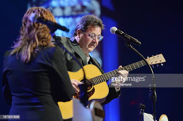 Country musicians Patty Loveless and Vince Gill perform at the funeral service for George Jones at The Grand Ole Opry on May 2 2013 in Nashville...