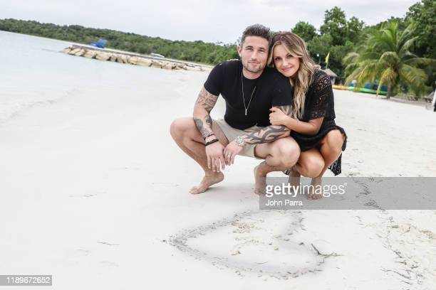Country Music's Newlyweds Michael Ray And Carly Pearce Honeymooning At The Spectacular OvertheWater Bungalows At Sandals South Coast on December 16...
