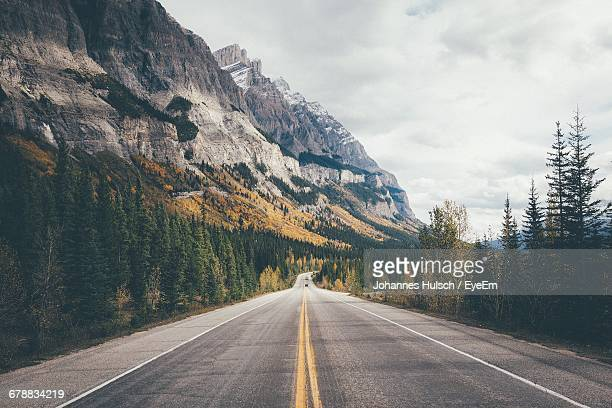 Country Road Along Rocky Mountains