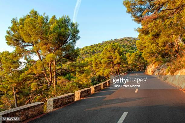 Country road at Cap Formentor, Majorca, Spain