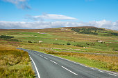 Country road in Arkengarthdale, Yorkshire Dales, England