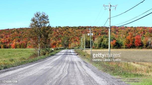 country road in fall in eastern townships, quebec - eastern townships stock pictures, royalty-free photos & images