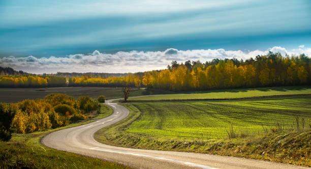 Country road in Gnesta, Sweden