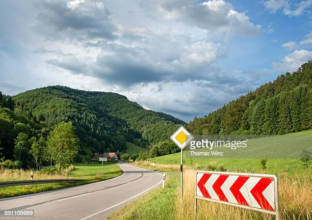 Country road in the Black Forest Region