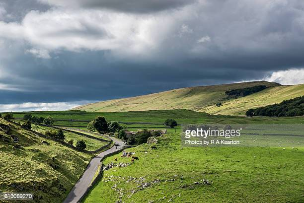 Country road in the Peak District, England