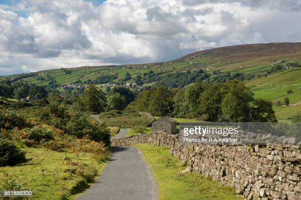 Country road in the Yorkshire Dales, England