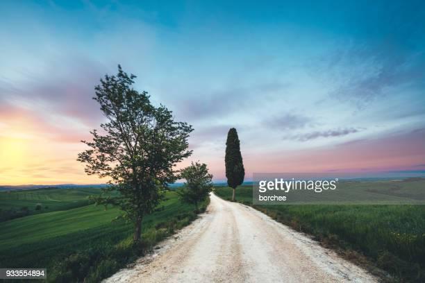 Landstraße In der Toskana