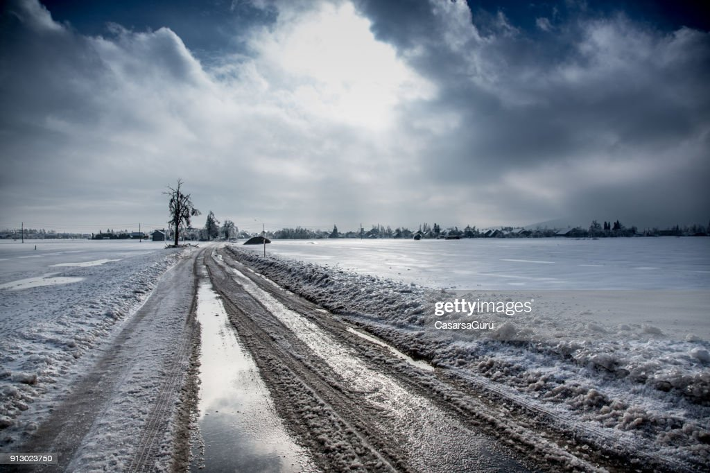 Country Road in Winter : Stock Photo