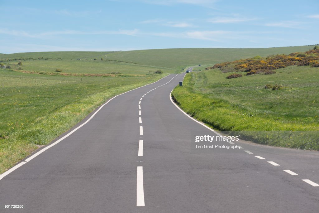 Country Road Intersection : Stock-Foto