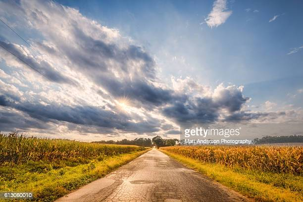 country road - indiana stock pictures, royalty-free photos & images