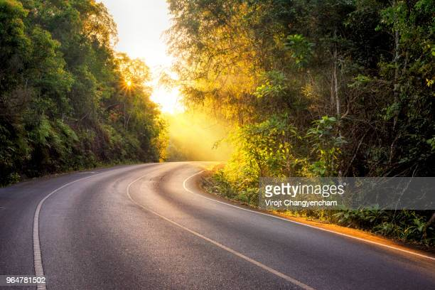 country road - sunny stock photos and pictures