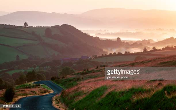 country road, trapp, brecon beacons, wales - brecon beacons stock pictures, royalty-free photos & images