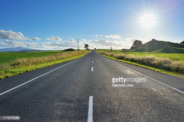 Country Road with Sun