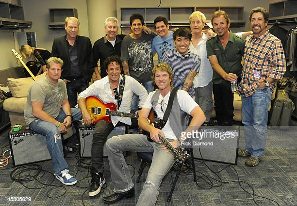 Country rockers Rascal Flatts and super group Journey including members Gary LeVox of Rascal Flatts Neal Schon of Journey Joe Don Rooney John Hamlin...