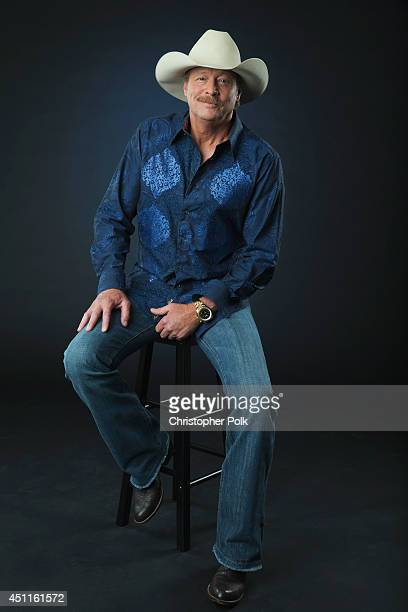Country singer Alan Jackson is photographed at the CMT Music Awards Wonderwall portrait studio on June 4 2014 in Nashville Tennessee