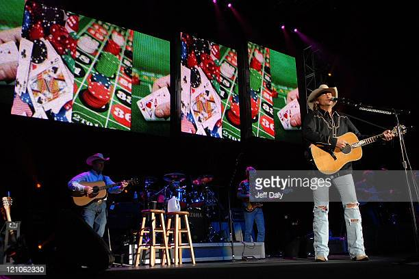 Country Singer Alan Jackson performs live at the Sound Advice Amphitheater on October 19 2007 in West Palm Beach Florida