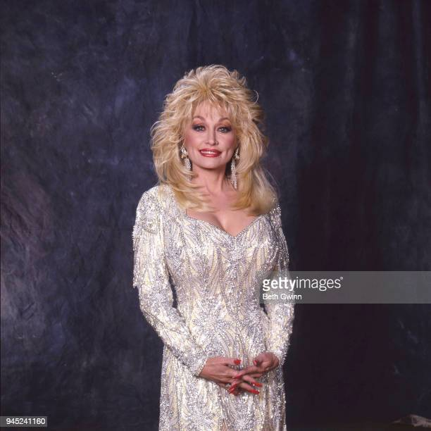 Country singer and songwriter Dolly Parton the first woman to host the CMA Award Show Backstage February 10 1988 in Nashville Tennessee