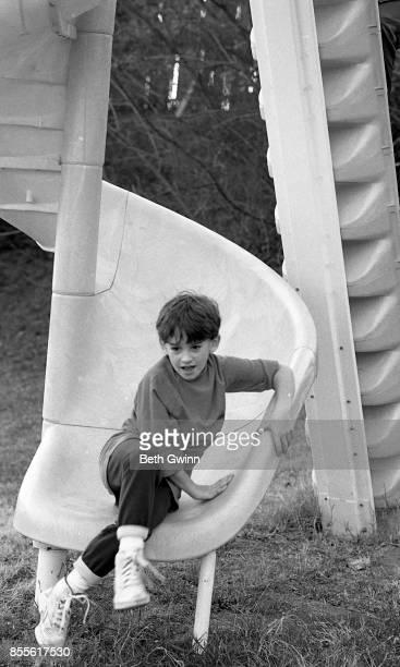 Country singer and songwriter Shooter Jennings on the slide on December 9 1987 Nashville Tennessee December 9 1987 NashvilleTennessee