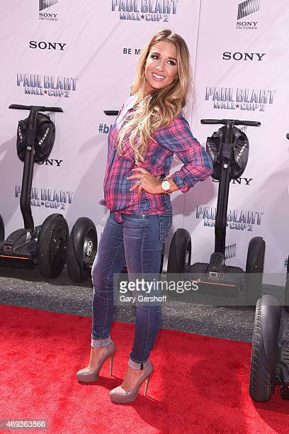 Country singer and TV personalitiy Jesse James attends Paul Blart Mall Cop 2 New York Premiere at AMC Loews Lincoln Square on April 11 2015 in New...