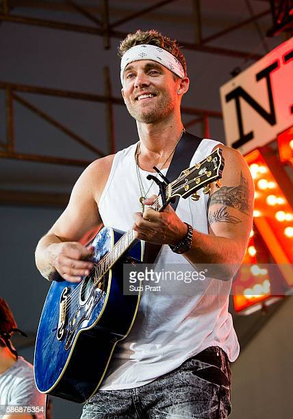 Country singer Brett Young performs at Gorge Amphitheatre on August 5 2016 in George Washington