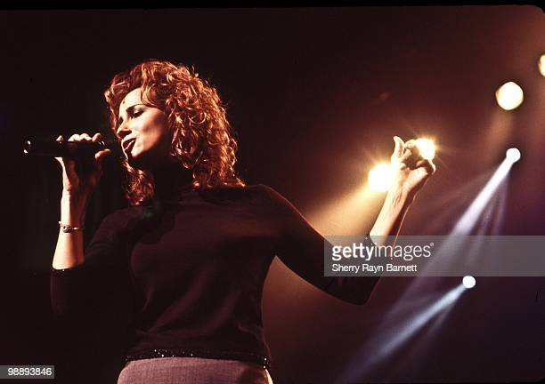 Country singer Chely Wright performs live at the Universal Ampitheatre as part of radio station KZLA's annual Country Cookoff concert in October 1999...