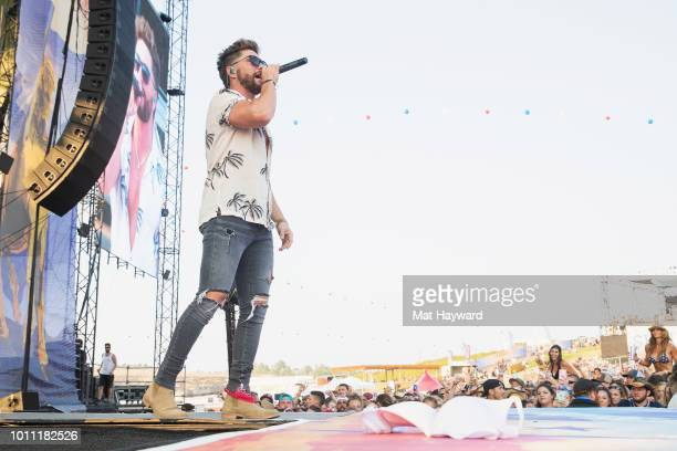 Country singer Chris Lane performs on stage at the Gorge Amphitheatre on August 4 2018 in George Washington