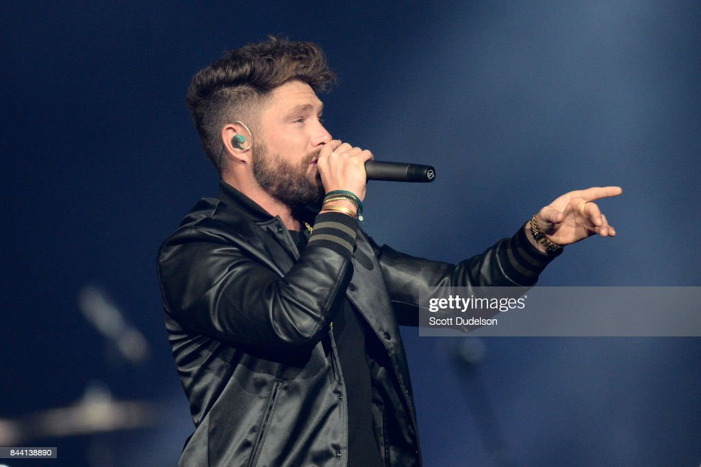 Country singer Chris Lane performs onstage at Honda Center on September 7, 2017 in Anaheim, California.