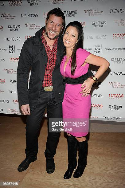 Country singer Cooper Boone and CW 11 moning news reporter Jill Nicolini attend the Tck Tck Tck Time for Climate Change at the Wired Store on...
