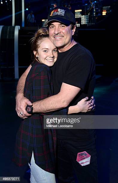 Country singer Danielle Bradbery and President and CEO of the Big Machine Label Group Scott Borchetta pose for a photo during the 2014 CMT Music...